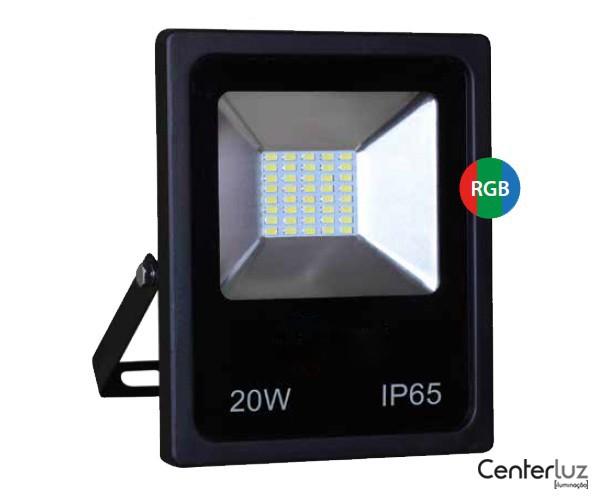Refletor de LED RGB c/ controle