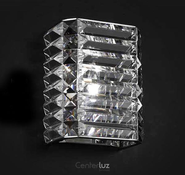 Arandela em Metal e Cristal 2