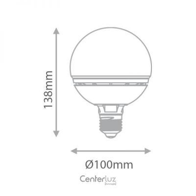 Lâmpada LED Ballon 12W 3000K (Branco Quente)  Bivolt Medidas