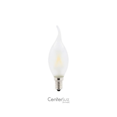 Lâmpada LED Vela Chama Fosca 2W 2700K (Branco Quente)