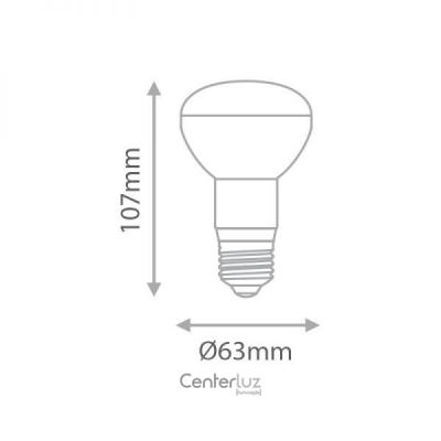 Lâmpada LED Mini Spot R63 6W Medidas